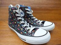 Converse CT All Star Heart Patterned Canvas Hi Top  Trainers Size UK 4 EU 36