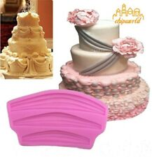 Ribbon Swag Mould Silicone Fondant Border Icing Baking Decorating Cake Mold