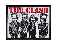 OFFICIAL LICENSED - THE CLASH - CARICATURE WOVEN SEW-ON PATCH PUNK STRUMMER