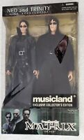 THE MATRIX NEO AND TRINITY 12 INCH ACTION FIGURE TWO PACK MUSICLAND EXCLUSIVE
