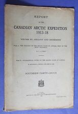 1924 CANADIAN ARCTIC EXPEDITION 1913-18 GEOLOGY GEOGRAPHY ESKIMO PLACE NAMES