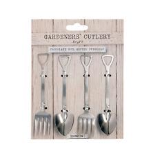 Eddingtons Gardeners Cutlery Set Fork Spoon Shovel Gift Novelty Stainless Steel