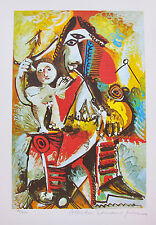 Pablo Picasso CHILD ON MAN'S LAP Estate Signed Limited Edition Art Giclee Medium