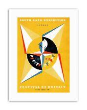 Festival de la Grande-bretagne 1951 New Poster Photo vintage Exposition Toile Art Prints