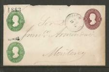 MEXICO 1888 EMBOSSED POSTAL STATIONARY COVER