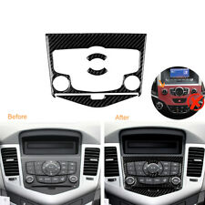 Carbon Fiber Interior CD Panel Decals Cover Trim For Chevrolet Cruze 2009-2015