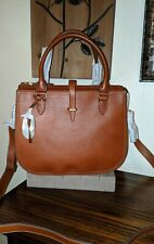 New Fossil Brown Leather Large Ryder Satchel Bag