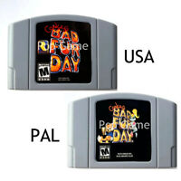 Conker's Conkers Bad Fur Day USA PAL Version Cartridge for 64Bit Video Game Cons