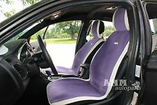 Classy New Sheepskin and Leather Seat Covers - Full Set, Violet /39