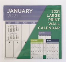 "Large Print 2021 Calendar 11""X12"" Includes September-December 2020 Calendar New"