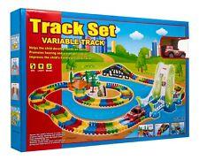Variable  Flexible Track Play set play set race car with head lights 257 pcs