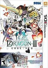 7th Dragon III Code: VFD Bundle (Nintendo 3DS, 2016) First Launch Edition - NEW