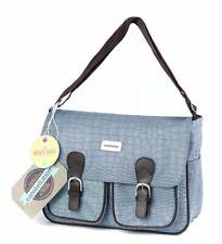 New Constellation Duck egg Blue Mock Croc Baby Changing Bag Satchel Shoulder Bag