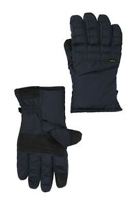 Hawke & Co. Men's Mid Weight Field Nylon Gloves Navy Size S/M