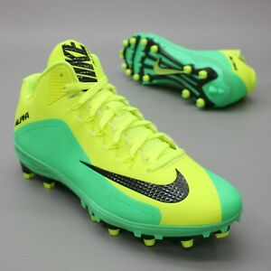 Nike Men's 14 Alpha Strike 2 3/4 TD Electro-Green Volt Yellow Football Cleats