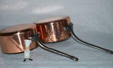 More details for  magnificent pair of copper saucepans 2mm jus sauce melt copper pan cuivre