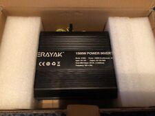 ERAYAK 1500W Power Inverter 3 US Outlets,3.1A Dual USB Ports Battery