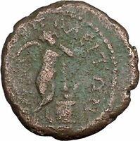 SEPTIMIUS SEVERUS 193AD Thanatos Ancient Roman Marcianopolis Coin i45238