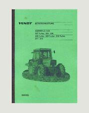 Fendt Farmer 309 Turbo LS/LSA  Betriebsanleitung
