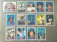 1989 CHICAGO CUBS Topps Baseball Team Lot 14 Cards +1 Ex DAWSON GOSSAGE DUNSTON!