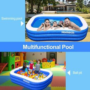 """95"""" Homech Family Inflatable Swimming Inflatable Kid Kiddie Family Pool"""