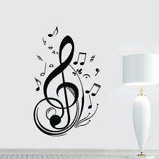 New Fashion Vinyl Music Note Decal Wall Sticker Decor Decoration Brand New