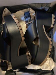 Marni black crisscross platform sandals sz 37