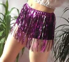 Rave Outfit Purple Tinsel Skirt