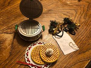American Girl Kit Christmas Waffle Iron Set Complete EUC RETIRED