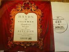 ALP 1624 Haydn The Salomon Symphonies Nos. 1 & 2 / Beecham / RPO TEST PRESSINGS