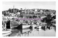 rt0229 - Trawlers in the harbour , Brixham , Devon - photograph