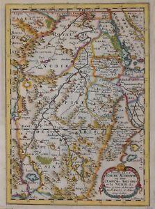 ETHIOPIA, NUBIA AND SURROUNDING AREA BY SANSON, PARIS 1657