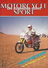 Motorcycle Sport Magazine April 1988 - Honda CX650E V-Twin Kawasaki GT750