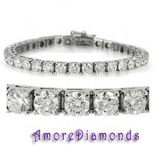 20 1/2 ct G SI1 genuine natural diamond 4 prong tennis bracelet white gold 7""