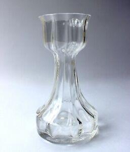 Dartington Glass Hyacinth Vase Optic Lead Crystal Ribbed  H16.5cm Frank Thrower