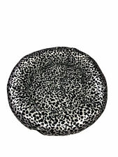 "Bed Soft Fleece Fabric Cat Puppy Bed Pet Washable Round 21 "" Black White Cow pr"