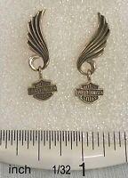 Harley-Davidson® Willie-G Skull Sterling Silver Circle Post Earrings HDE0499