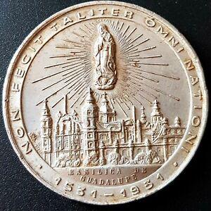 1931MEXICO Medal IV CENTENARIO APARICIONES VIRGEN GUADALUPE 18g. VERY NICE!!