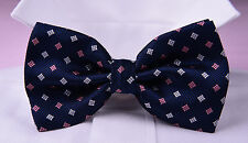 Mens Blue Wedding Tuxedo Bow Tie Luxury Designer Fashion Apparel Event Dinner