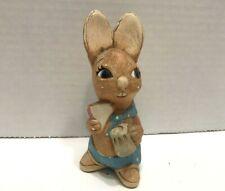 "Vintage Pendelfin Easter rabbit ""Muncher"".Engla nd Hand Painted Stonecraft"