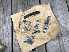 VINTAGE BIKE BICYCLE CHAIN GUARD CLAMP KIT BRACKETS CHAINGUARD BASH GUARD NEW