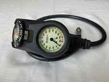 Sherwood 3-Gauge Compact Scuba Console w/Compass has Depth/ Pressure (PSG)/ Temp