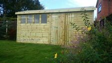 16x10 13mm Apex Extra Height Tanalised Shed/Workshop