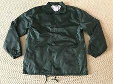 New Men's New Star Dark Green Windbreaker Snap Up Coach's Jacket ALL SIZES S-3XL