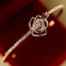 Gioielli Moda Donna di cristallo del fiore della Rosa di Bangle Bracciale