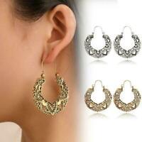 1 Paar Hohlmuster Ohrringe Mode Creolen Damen Ohrringe Mode R9X7