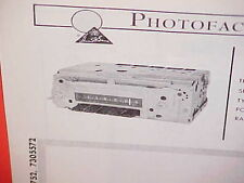 1968 PONTIAC FIREBIRD LEMANS GTO CONVERTIBLE RAM AIR 400 AM RADIO SERVICE MANUAL
