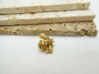 Vintage Small Gold Tone Bumble Bee Brooch Pin EE40