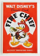 Donald Duck Fire Chief Fridge Magnet (2 x 3 inches) movie poster firefighter