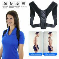 Posture Corrector Support Back Shoulder Belt Strap Brace Adjustable Band Unisex